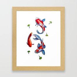 three kois Framed Art Print