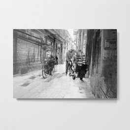 tethered onto habits called customs, Metal Print