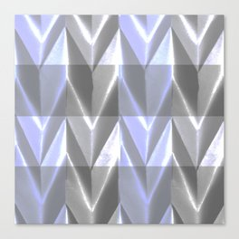 Purple Neon Grey Paper Sculpture 3D Canvas Print