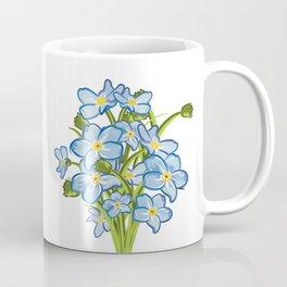 Spring Bouquet of Blue Myosotis Coffee Mug