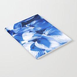 Botanic leafage - cobalt Notebook