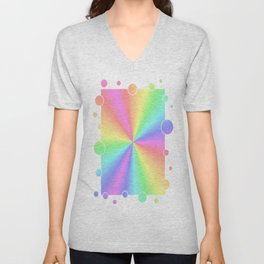 Rainbow Pattern 3 Unisex V-Neck