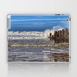 White horse on walcott beach Laptop & iPad Skin