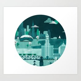 Chicago Digital Illustration Art Print