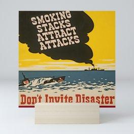 Vintage Naval Poster Mini Art Print