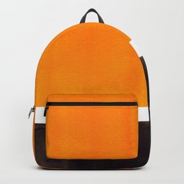 Minimalist Mid Century Modern Color Block Pop Art Rothko Inspired Golden Yellow Black Squares Backpack