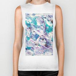 Purple turquoise blue abstract mermaid brushstrokes acrylic painting Biker Tank