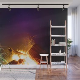 The Fire Sunset (Color) Wall Mural