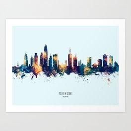 Nairobi Kenya Skyline Art Print
