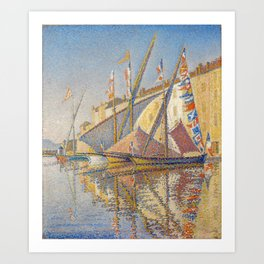 Tartans With Flags Art Print