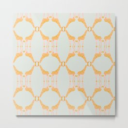 Giraffe Repeat Metal Print