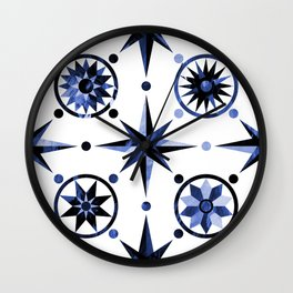 Nautica Blue Wall Clock