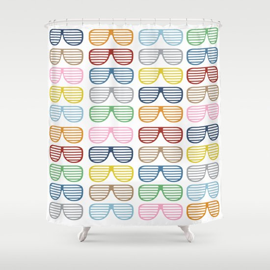 Rainbow Shutter Shades Shower Curtain