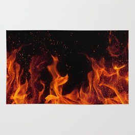 Cinematic - Flame Art Rug