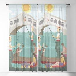 Venice Italy 1 Sheer Curtain