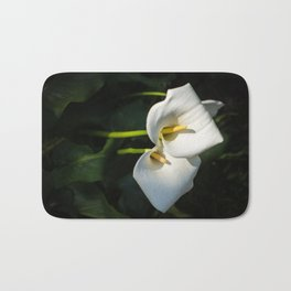 Close-up of Giant White Calla Lily Bath Mat