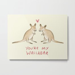 Wallabae Metal Print