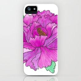Wild Peony Watercolor iPhone Case