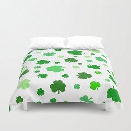 Green Shamrock Pattern Duvet Cover