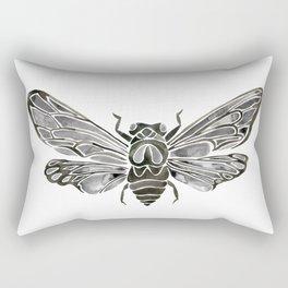Summer Cicada – Black Palette Rectangular Pillow