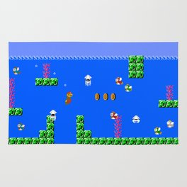 Mario Waterworld Rug