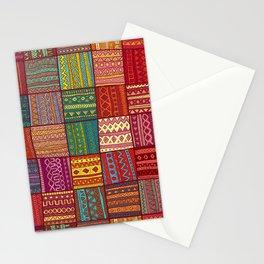 Tribal Boho Hippie Patchwork Stationery Cards
