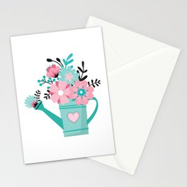 Floral Watering Can Stationery Cards