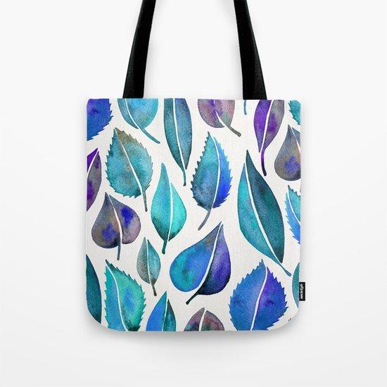 Cascading Leaves – Blue Palette Tote Bag
