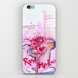 Paloma's Rose Martinis iPhone Skin