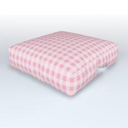 Pink Gingham Outdoor Floor Cushion