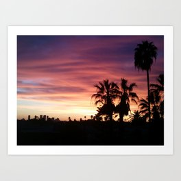 Pink Hollywood Art Print