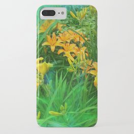 Day-glo Lilies iPhone Case