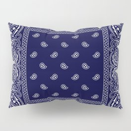 Bandana - Navy Blue - Southwestern Pillow Sham