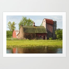Old barn in Fall colors Art Print