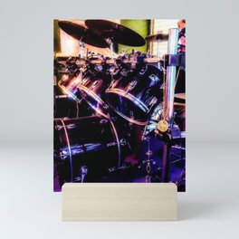 Drums and the Drummer Mini Art Print