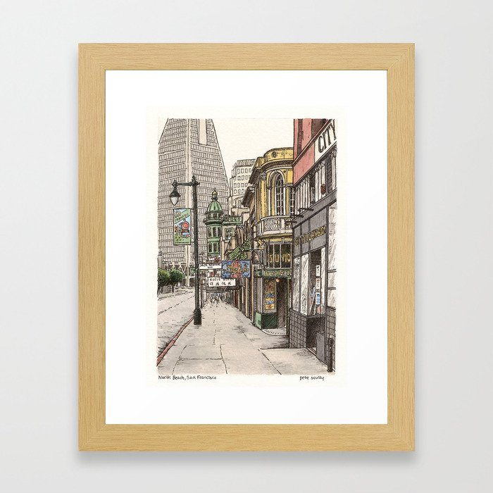 North Beach, SF Framed Art Print