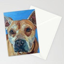 Happy the Bully Dog Portrait Stationery Cards