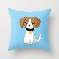 beagle Throw Pillows featuring Beagle by Freeminds
