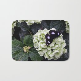 Black Butterfy Bath Mat