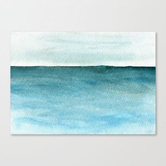 Calm sea 1985 Canvas Print