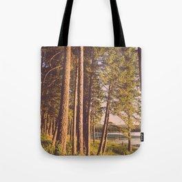 Retro Forest Tote Bag
