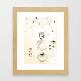 Sofi and the owl Framed Art Print