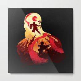 Kratos and Boy Metal Print