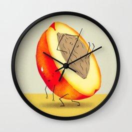 Lazy Peach Pit Wall Clock