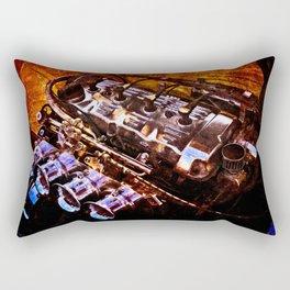 Powerful Car Engine Color Rectangular Pillow