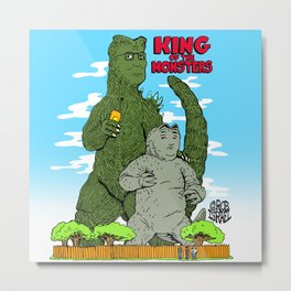 King of the Monsters Metal Print