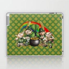 Happy Leprecauns, Rainbow, Shamrocks & Gold Laptop & iPad Skin