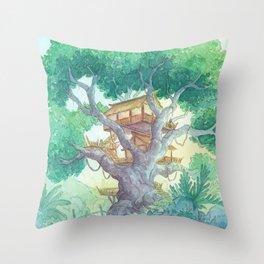 Tree Top Throw Pillow