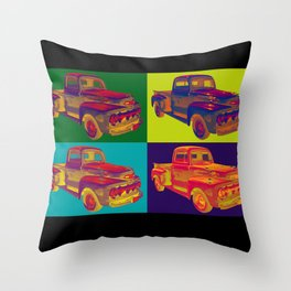 Colorful 1951 Ford F-1 Pickup Truck Pop Art  Throw Pillow