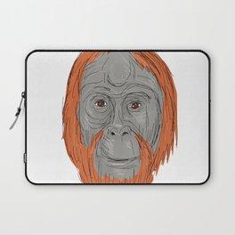 Unflanged Male Orangutan Drawing Laptop Sleeve